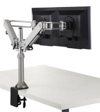 Dual Articulating 2 Monitor Arm - Clamp Mount