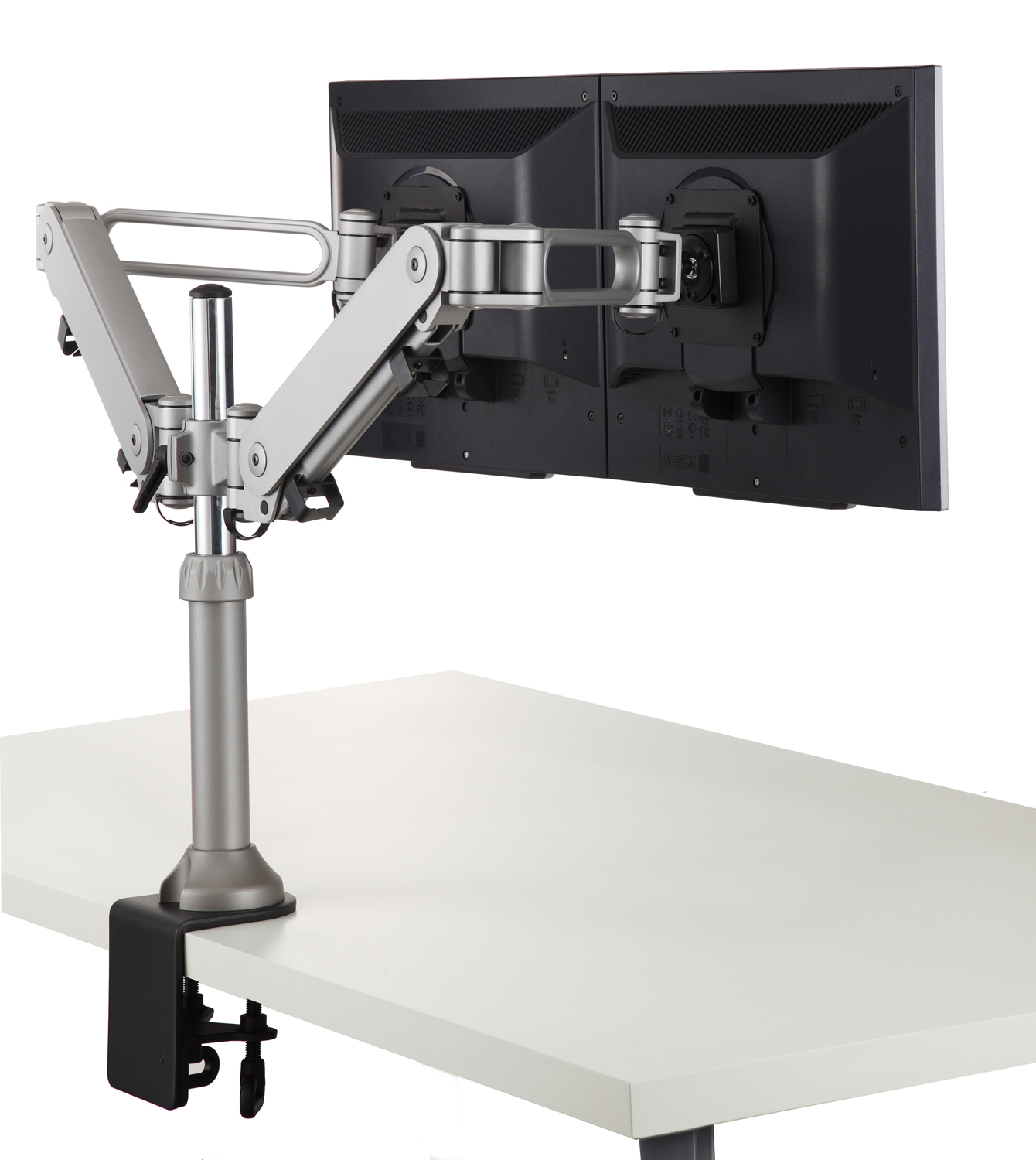 Genial Monitor Arm   RM4 Desk / Top Mount (Clamp Style) Dual Monitor Holder