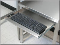 Stainless Steel Keyboard Tray for Stainless Steel Work Bench