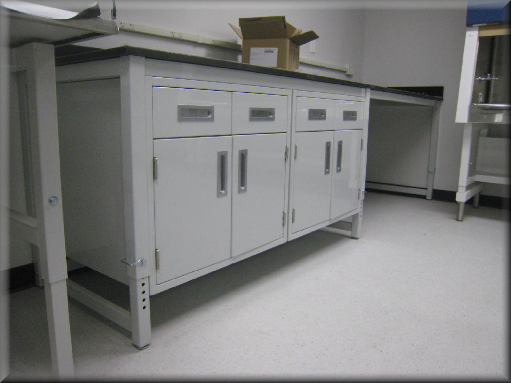 Laboratory Cabinets with Metal Frame