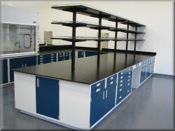 Laboratory Island Steel Lab Furniture - Steel Casework