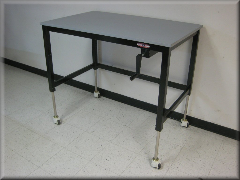 Lift tables at rdm adjustable tables a107p for Sofa table leg height