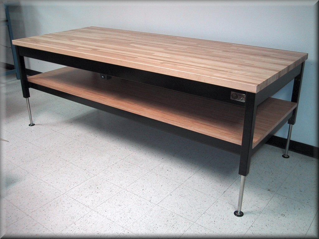 ... Adjustable Height Lift Table With Solid Maple Top ...