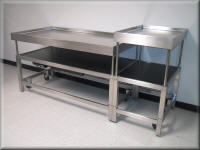 Adjustable Height Stainless Steel Cart