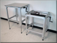 Aluminuml Adjustable Height Table w/ Hand Crank & Casters