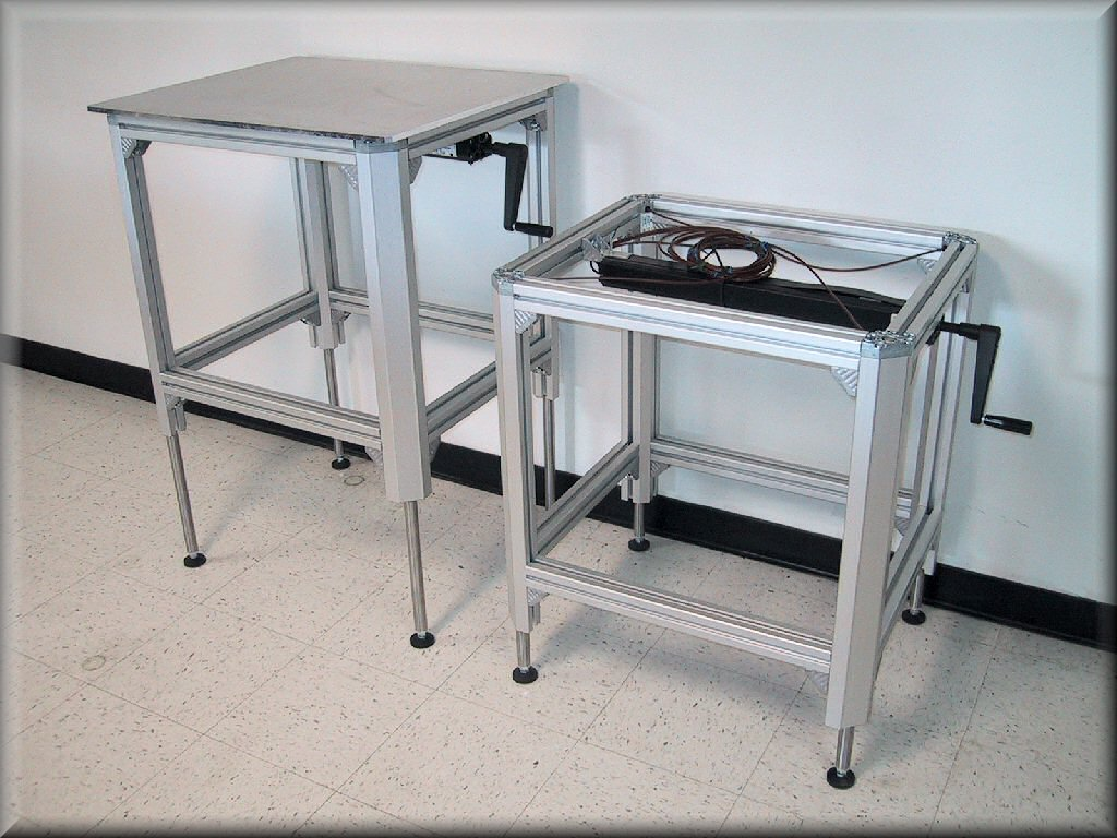 Aluminum Frame Lift Tables