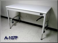 Adjustable Height Lift Table w/ Hand Crank & Casters