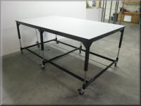 Adjustable Heavy Duty Lift Table with Full Time Casters