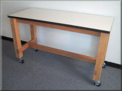Laboratory Table - Wood Frame with Laminated Top