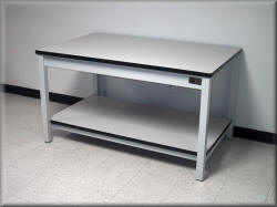 Vibration Damping Table - metal Frame Laminated Top