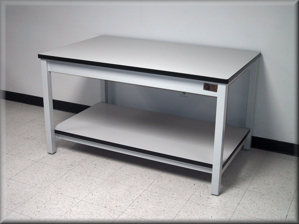 Marvelous Laboratory Table   Metal Frame Laminated Top ...