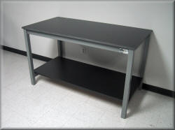 Laboratory Table - metal Frame with Solid Surface Top