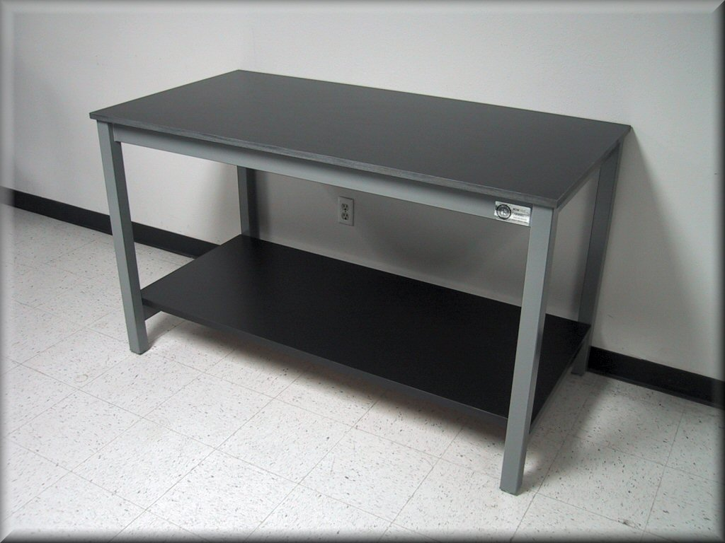 Laboratory Table   Metal Frame With Solid Surface Top ...