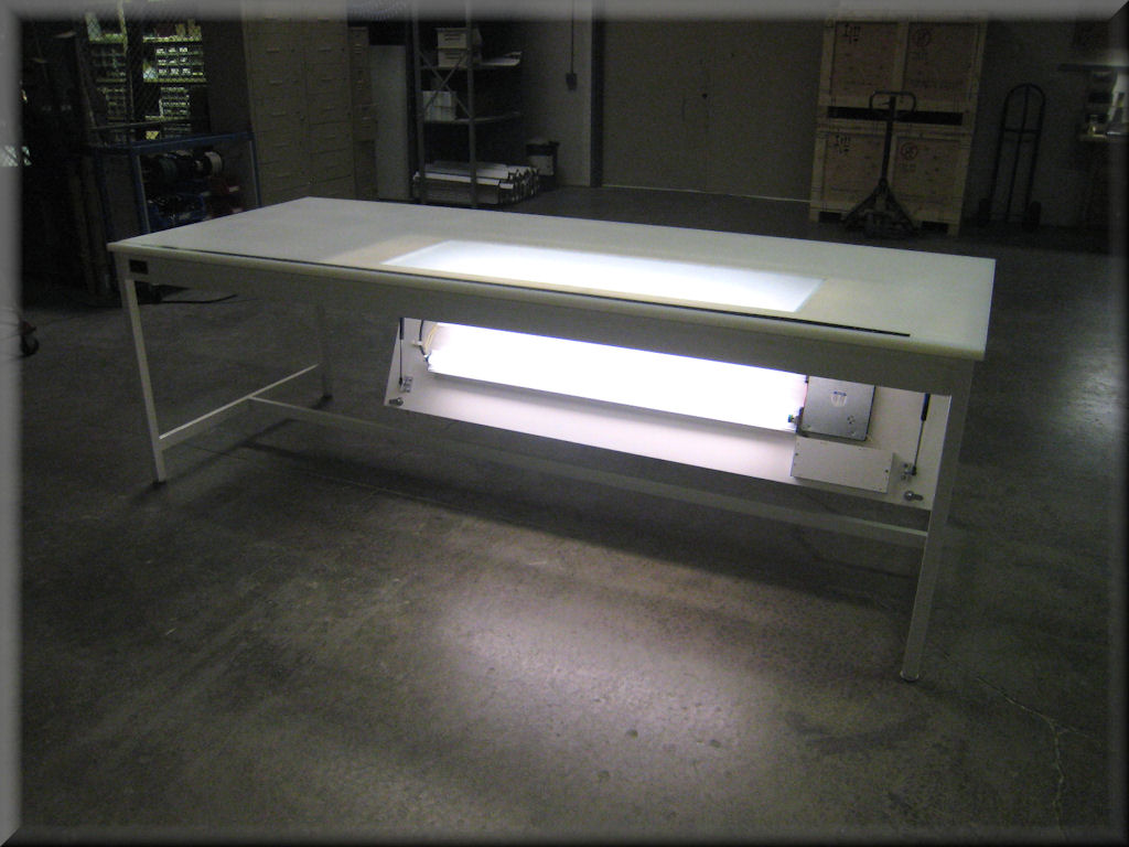 Light Table with Bottom Access Service
