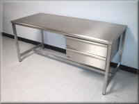 Stainless Steel Adjustable Height Table w/ Hand Crank & Casters