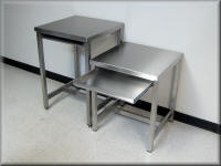 Stainless Steel Table Pair