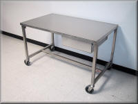 Stainless Steel Table Pair · Stainless Steel Lab Table