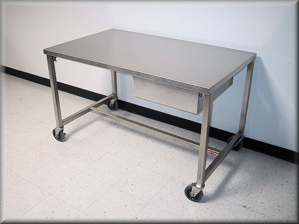RDM Stainless Steel Table Model APSS - Stainless steel work table with wheels