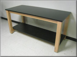 Laboratory Table - Wood Frame with Laminated Tops