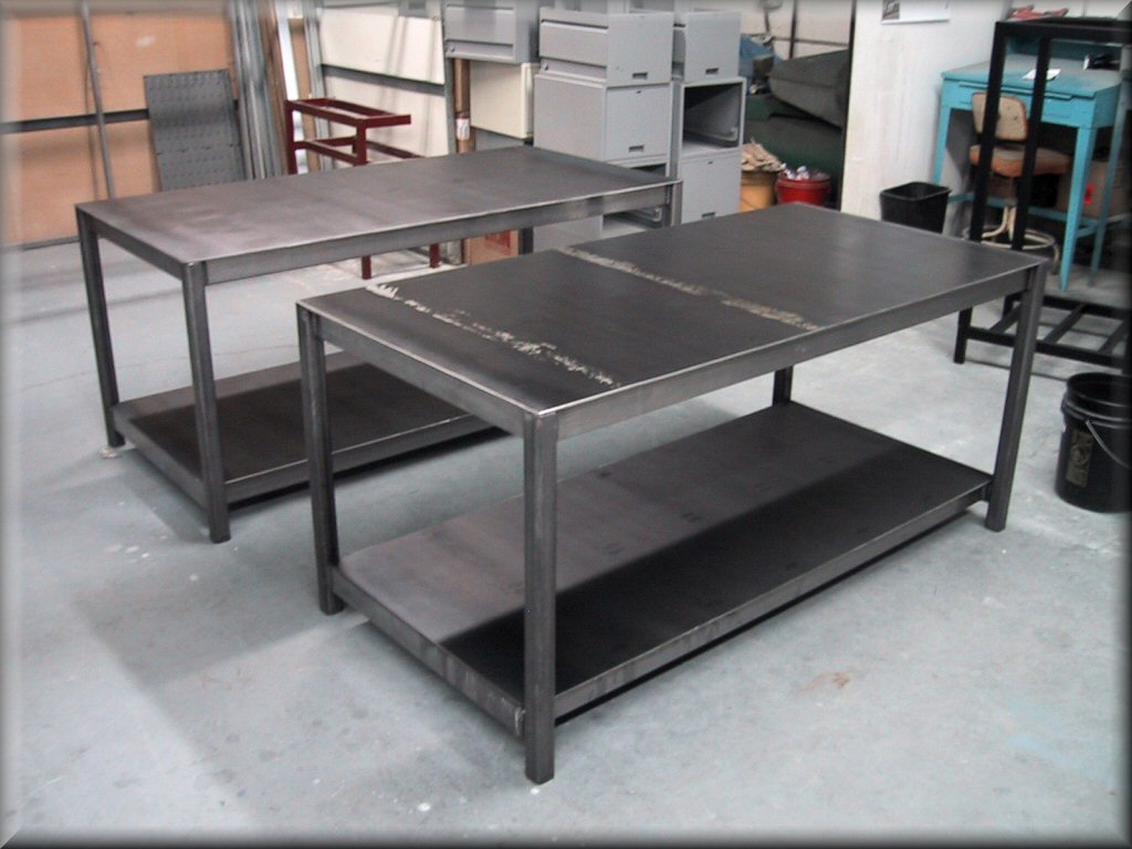 RDM WorkBench APCLG Flat Top Table W Center Legs - 8 ft stainless steel work table
