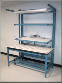 Custom Ball Transfer Table with Flow Rack Cart