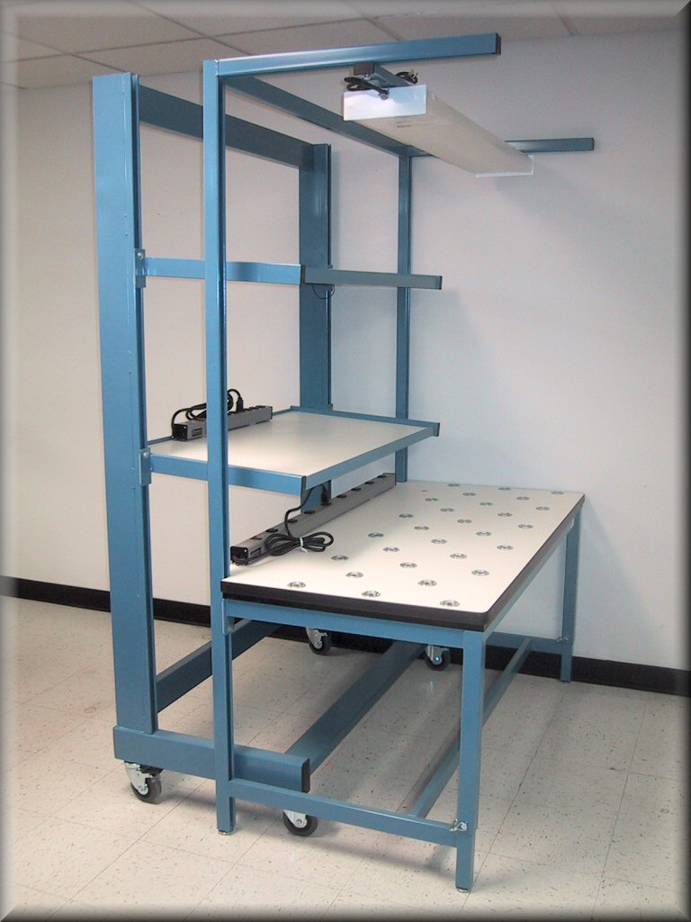 Attrayant ... Side View Custom Ball Transfer Table With Flow Rack Cart