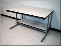 Adjustable Height Stainless Steel Table w/ Hand Crank & Casters