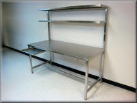 Stainless Steel Table with Upper Shelf
