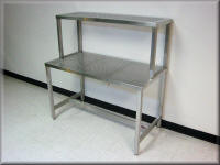 Stainless Steel Tech Table with Perforated Tops