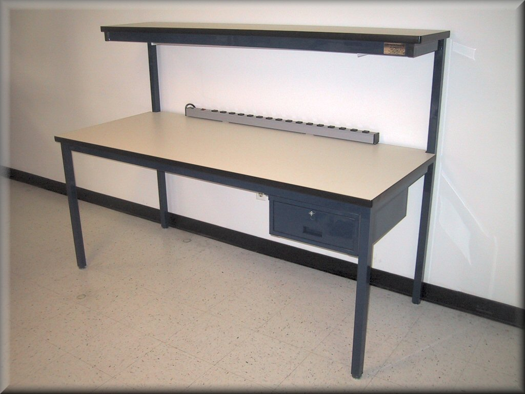 Rdm Workbench F 103pe Economy Tech Table W Upper Shelf