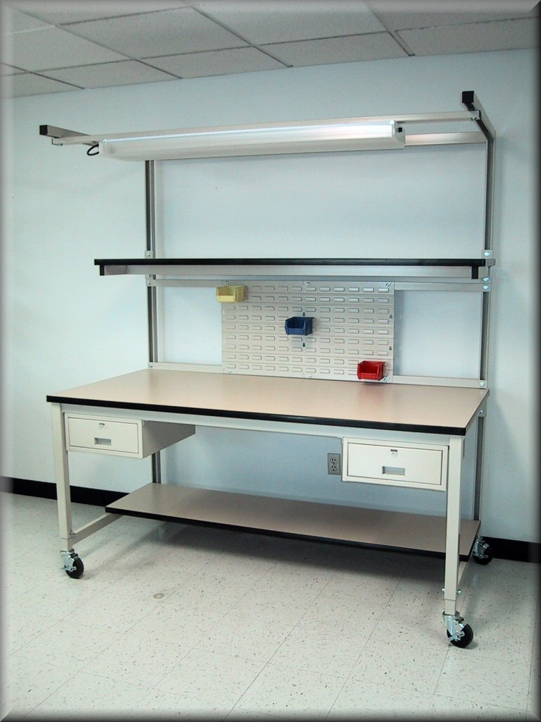 Rdm Workbench F 103p Sp Tech Table W Split Upper Shelf