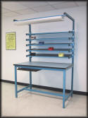 Workbench with Flow Rack Shelves - Model FR-104P