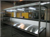 Inspection Table with Overhead Lighting
