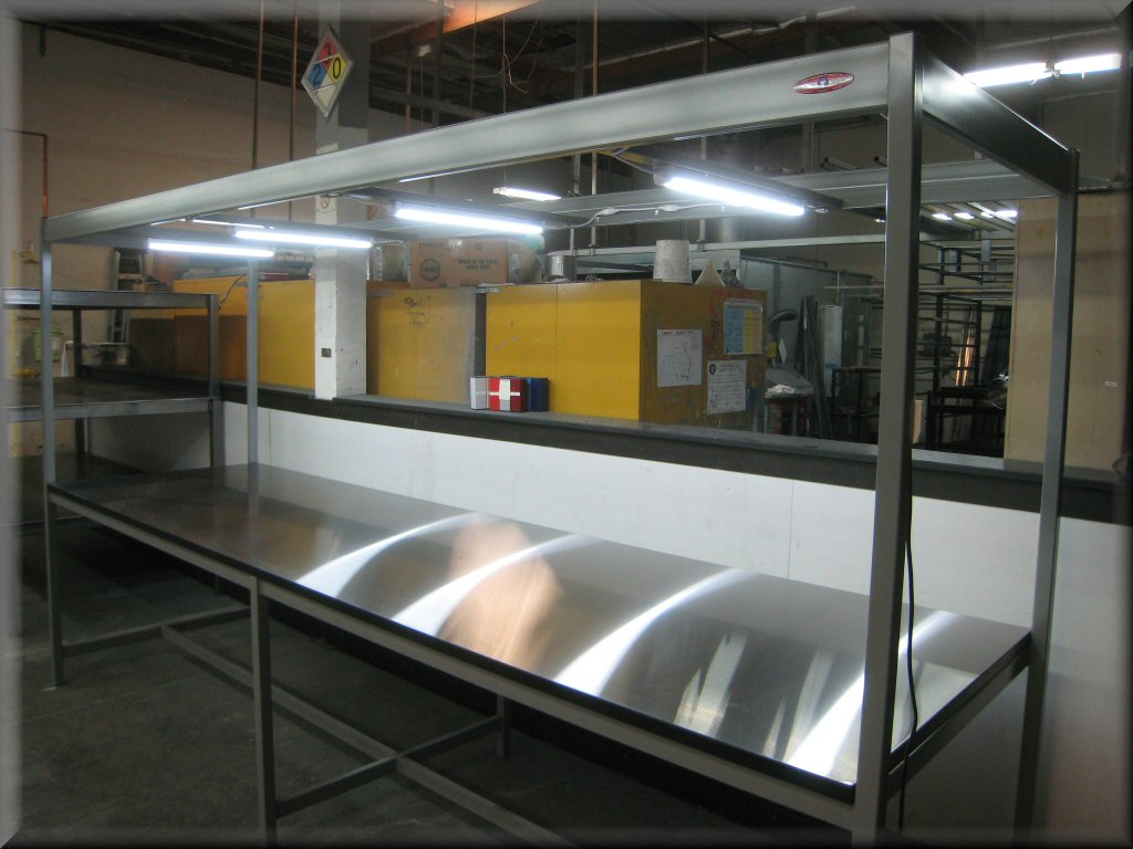workstation lighting. Workstation Lighting. Inspection Table With Overhead Lighting