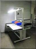 i-Frame Ergonomic Lift Table with Overhead Accessory Boom