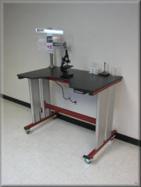 Adjustable Height Microscope Table