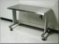 Stainless Steel Ergonomic Table / ADA Table - Stainless Steel Workbench
