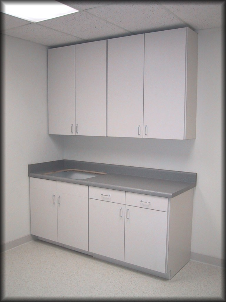 Euro Style Cabinets With Plastic Laminated Top Exterior Melamine Interior