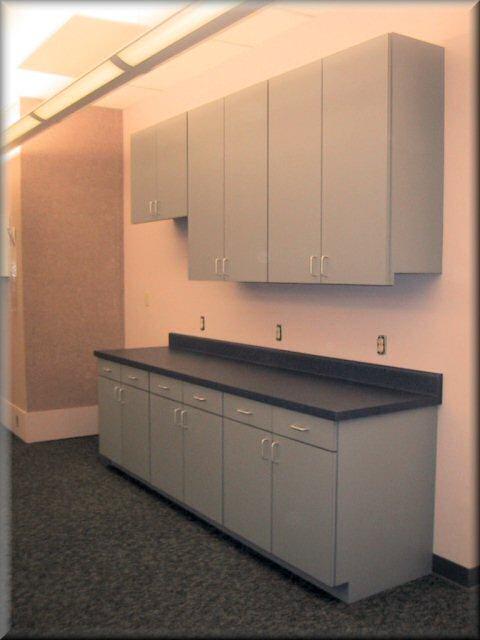 Euro Style Cabinets With Plastic Laminate Top U0026 Exterior   Melamine Interior