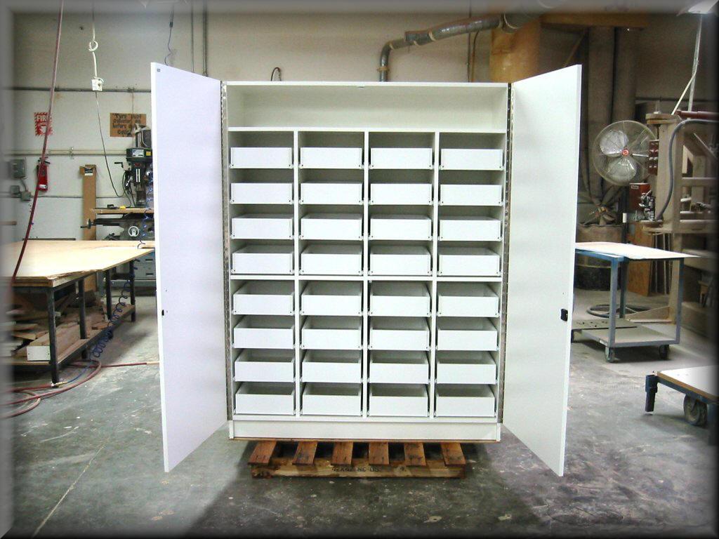 Custom Drawer Storage Unit ... & Custom Storage Cabinets Standard Storage Cabinets - RDM Industrial ...