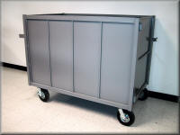 Heavy Duty Closed Wall Cart w/ Swinging Gate & Push Bar