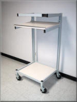 Adjustable Height Shelf Cart