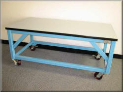 Heavy Duty Table with Lateral Angle Brackets