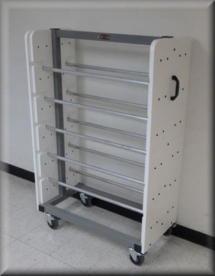 Roll Dispensing Cart for Wide Rolls