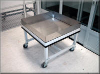 Custom Cart with Stainless Steel Containment Tray