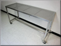 Custom Lift Cart with Clear Containment Curbs