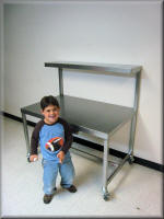 Stainless Steel Cart with Upper Shelf