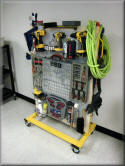 Tool Cart with Polypropylene Peg Board and Adjustable Bin Rails