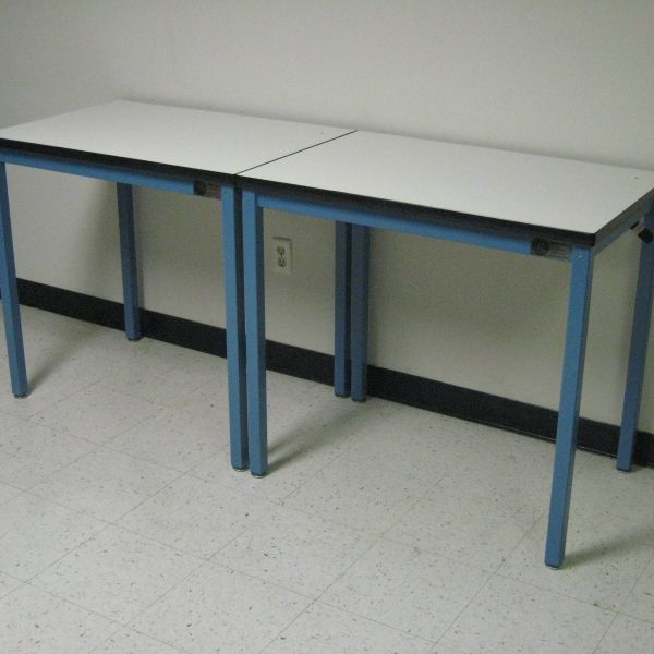 Economy Workbench A-109PE-01-BlueFrameWhiteTopDouble