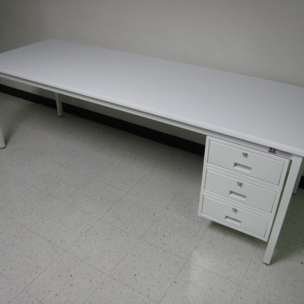 Economy Workbench A-109PE-01-WhiteeFrameWhiteTopUUU